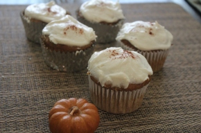 Pumpkin Spice Cupcakes with Cream CheeseFrosting