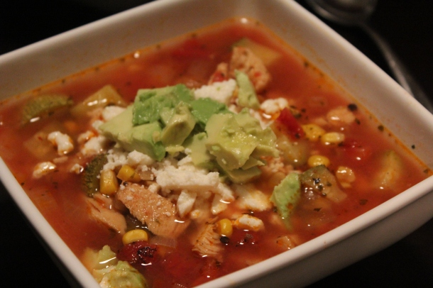 Close up Tortilla Soup
